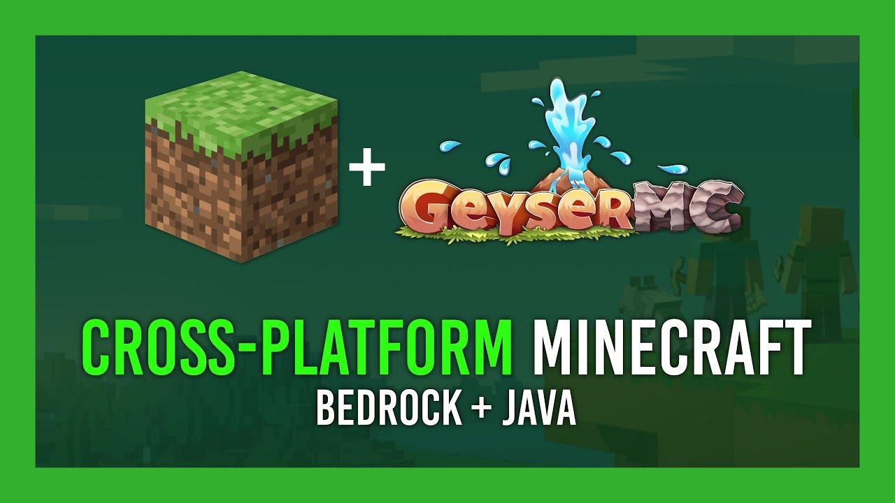 Bedrock Java Minecraft Cross play server tutorial EASY
