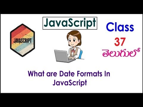Date Formats In JavaScript Training Videos In Telugu 37 I JavaScript Tutorials I Training I Classes thumbnail