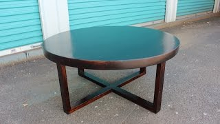 Heres a little tutorial on how to make a round table without having...