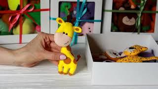 Jungle felt animals set from Mollis Toys handmade playset Woodland baby Shower Nursery decor Kids