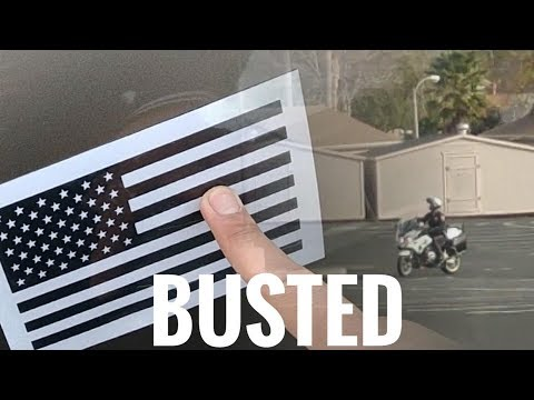 COP INTERRUPTS My American Flag Decal Install