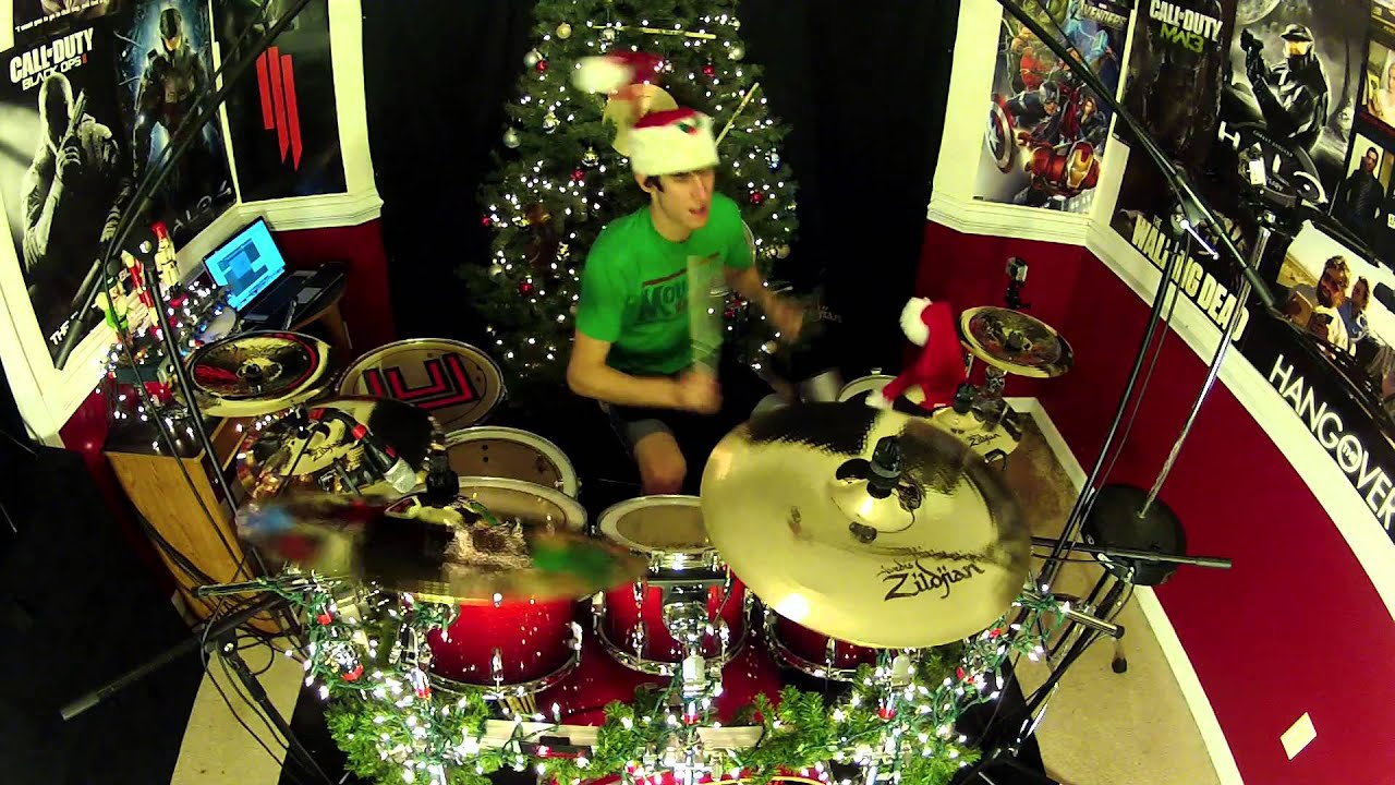 Christmas With Weezer Drum Cover We Wish You A Merry Christmas O Holy Night YouTube