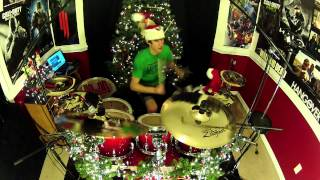 "Christmas With Weezer - Drum Cover - ""We Wish You A Merry Christmas"" - ""O Holy Night"""