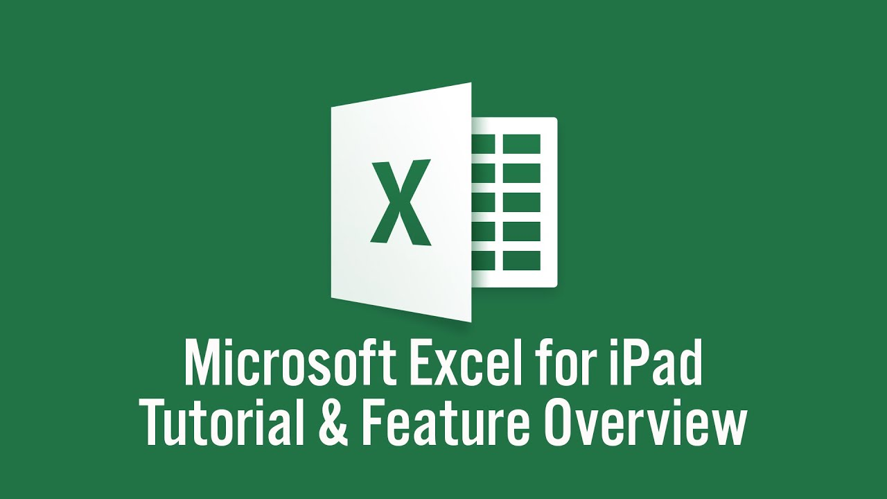 Microsoft Excel For IPad Tutorial YouTube - Como hacer un invoice en excel online stores accept checks
