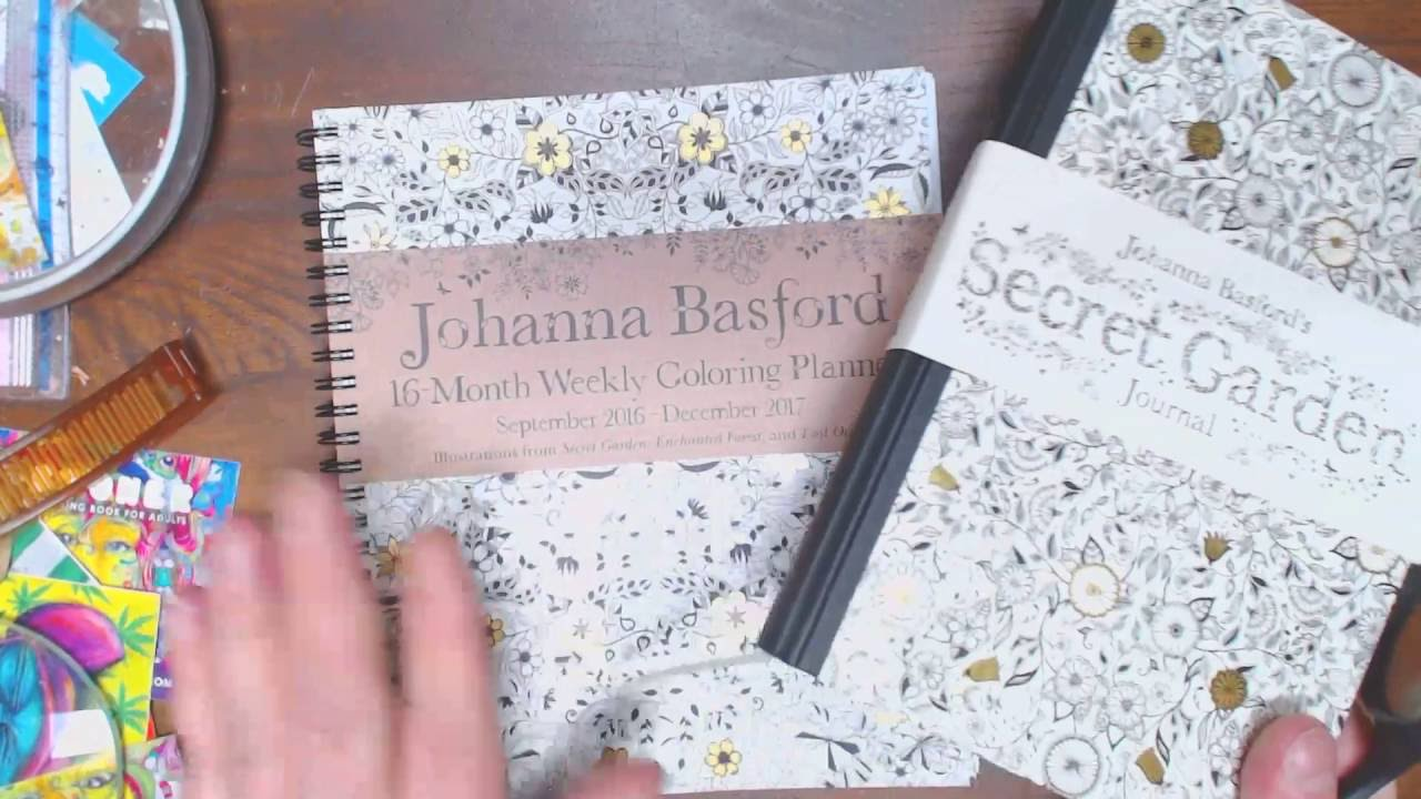 Secret Garden Journal 7 Johanna Basford Weekly Coloring Calendar