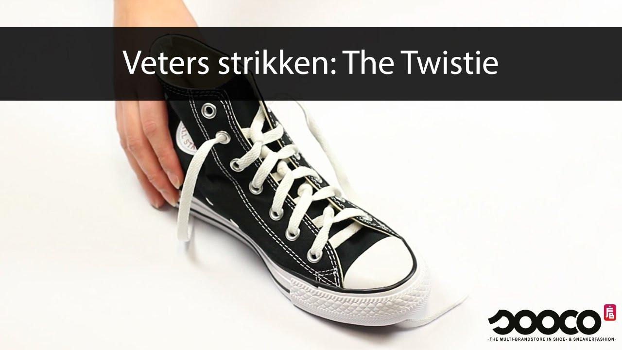 Veters strikken: Twistie   sooco.nl