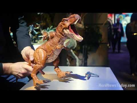 "NY Toy Fair 2018 - ""Jurassic World: Fallen Kingdom"" toys by Mattel"