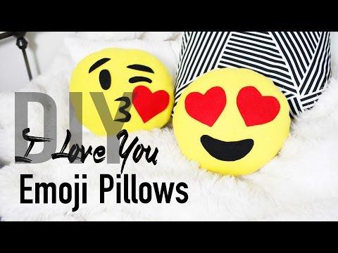 DIY Cute & Easy Heart Emoji Pillows | ANN LE