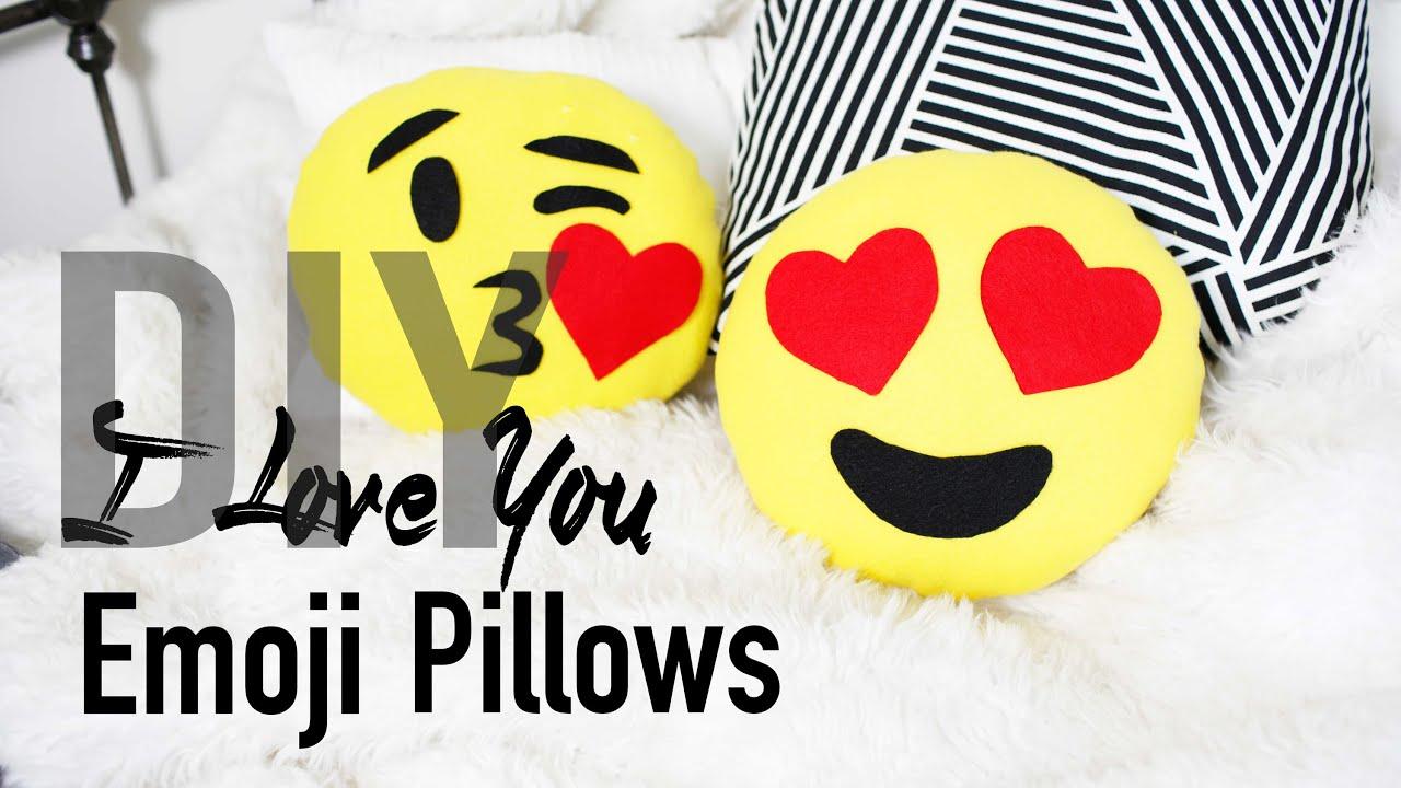 Diy Emoji Pillow Case: DIY Cute & Easy Heart Emoji Pillows   ANN LE   YouTube,