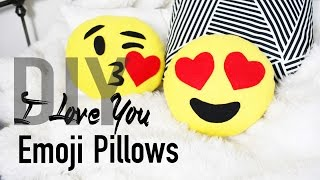 DIY Cute & Easy Heart Emoji Pillows | ANNEORSHINE Thumbnail