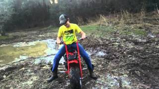 Mini bike mudding!
