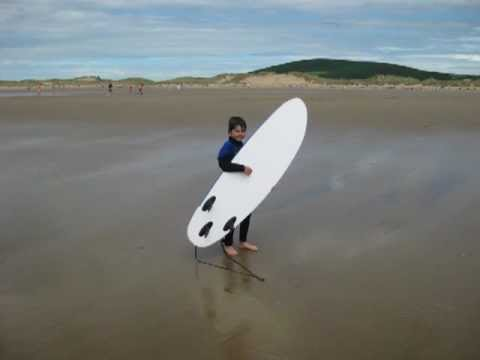 Ben Lawton's very first day surfing