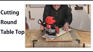 Making A Round Table Top -  A Woodworkweb Woodworking Video
