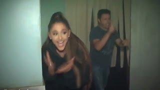 Ariana Grande Falls in Haunted House & Caught Kissing Mac Miller