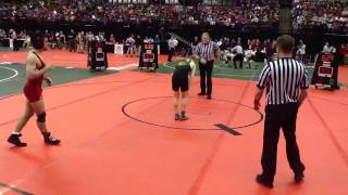 OHSAA State Wrestling 2013: QTRS: Chance Driscoll (Eds) vs Tim Rooney (St. Charles)...D1 126
