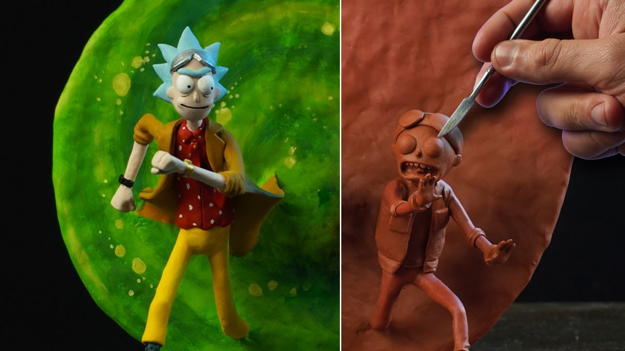 Sculpting RICK & MORTY Diorama [ Back To The Future Tribute ]
