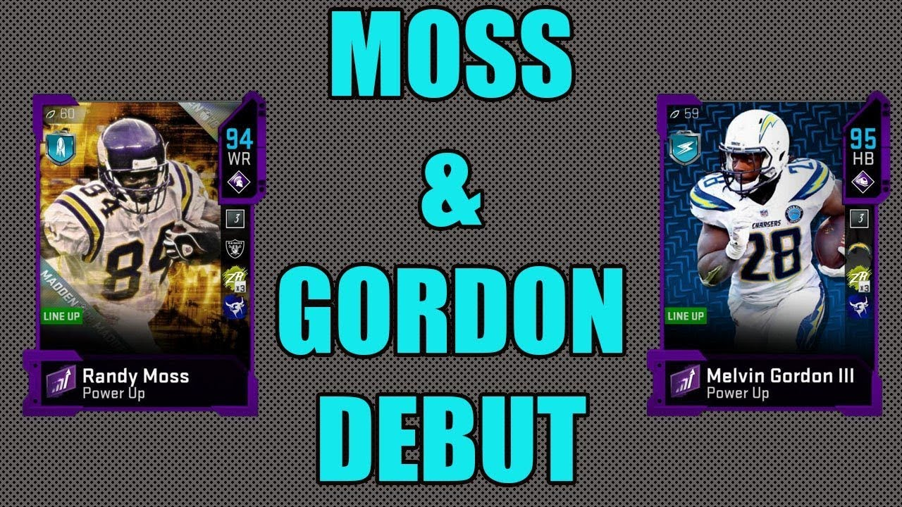 Randy Moss Melvin Gordon Debut Moss Cant Be Covered Madden 20 Ultimate Team Youtube