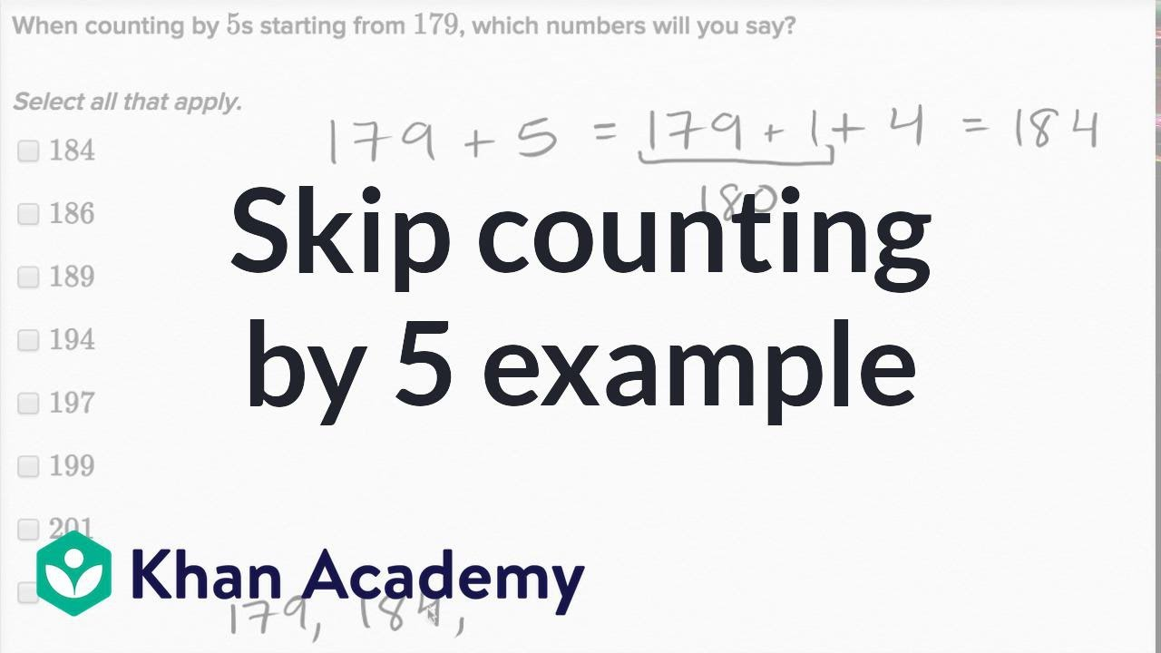 Skip-counting by 5s (video) | Skip-counting | Khan Academy