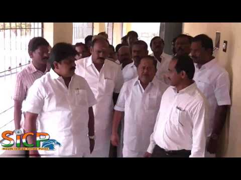 Minister M Manikandan inspects new buildings for law college