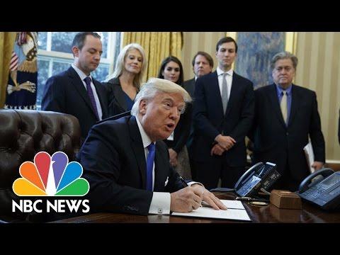 President Trump Signs Executive Orders On Keystone, Dakota Access Pipelines | NBC News