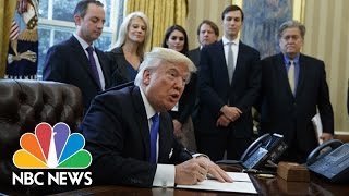 President Trump Signs Executive Orders On Keystone, Dakota Access Pipelines | NBC News