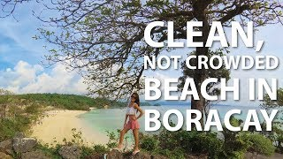 Clean and Not Crowded Beach in Boracay (2018)