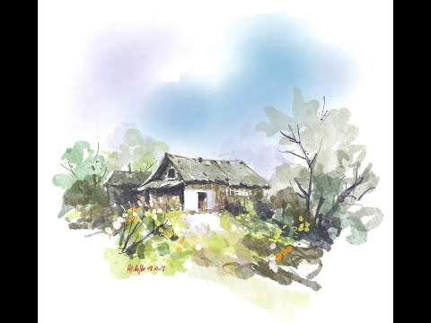Digital Painting - Farmhouse - Concepts app tips - iPad Pro - Time lapse