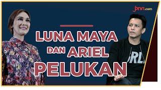 Lama tak Jumpa, Luna Maya dan Ariel Noah Pelukan