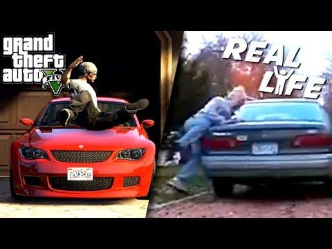 GTA 5 VS REAL LIFE 4 ! (fun, fail, stunt, ...)