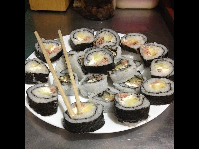 Cómo preparar Sushi Rápido y Fácil (Sushi con Arroz Normal)