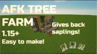 Minecraft AFK Tree Farm ! Gives back saplings - 1.16 Tutorial