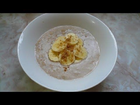 Desayuno, Avena con Platano! -Receta-