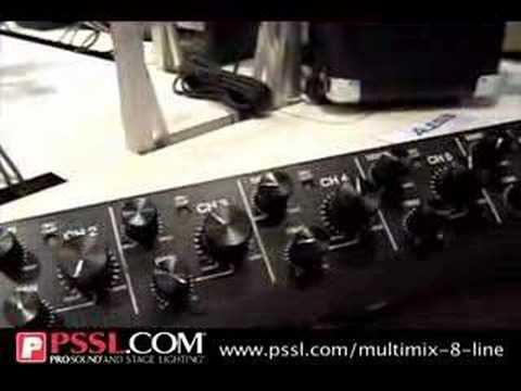 Alesis MultiMix 8 Line - Eight-Channel Stereo Line Mixer