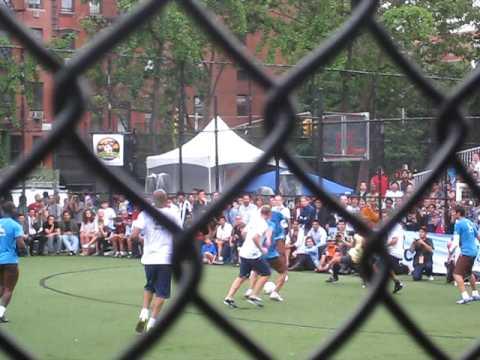 Claudio Reyna Goal at Steve Nash Charity soccer in new york city