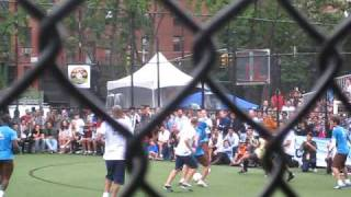 Claudio Reyna Goal at Steve Nash Charity soccer in new york city