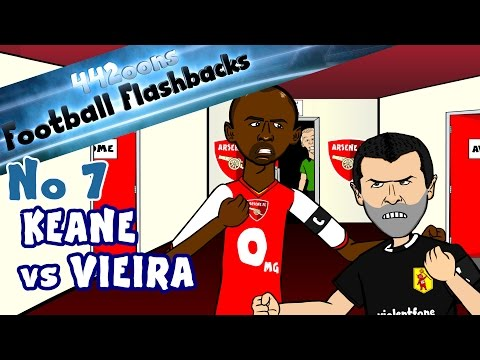 ROY KEANE vs PATRICK VIEIRA HIGHBURY TUNNEL! Football Flashback No7 Parody funny cartoon