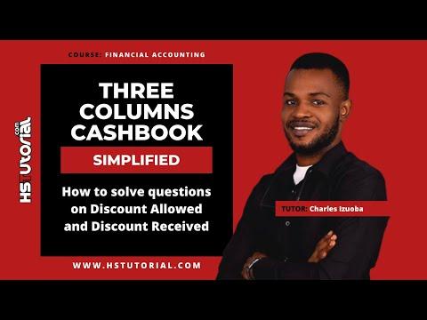 Three Column Cash Book