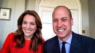The Duke and Duchess of Cambridge call Veterans on VE Day