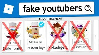How To Stop FAKE YouTubers in Roblox!