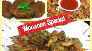 3 Monsoon Special Recipes / Quick and Easy Snacks/Indian Food Recipe / Vegan Recipes / Sharda Cook.