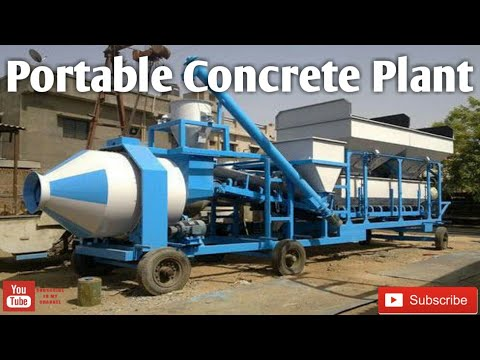 Atlas Industries Portable Concrete Batching Automatic Plant