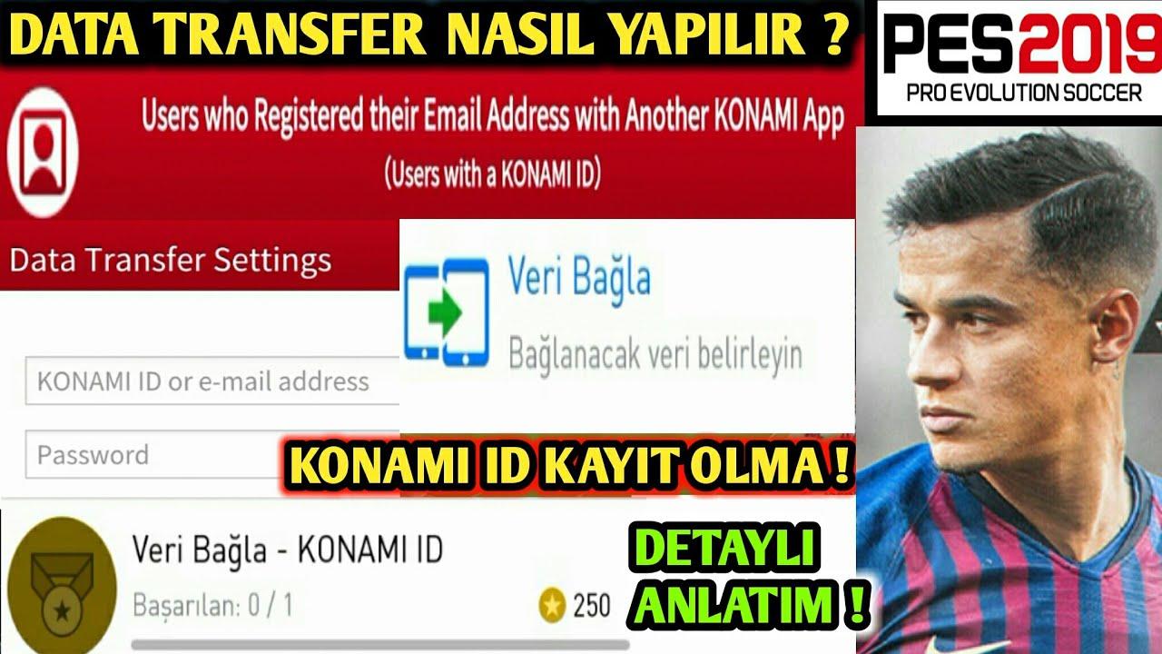 100 Data Transfer Nasil Yapilir Konami Id Kayit Olma