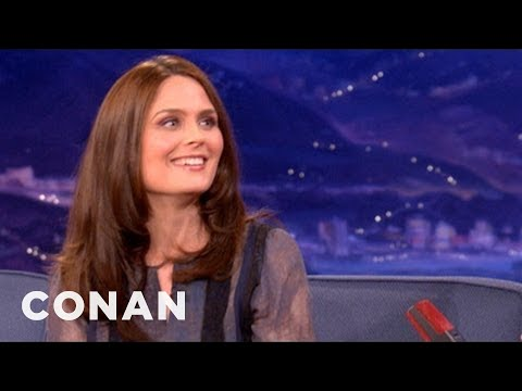 Emily Deschanel Loved To Torture Zooey Deschanel  CONAN on TBS