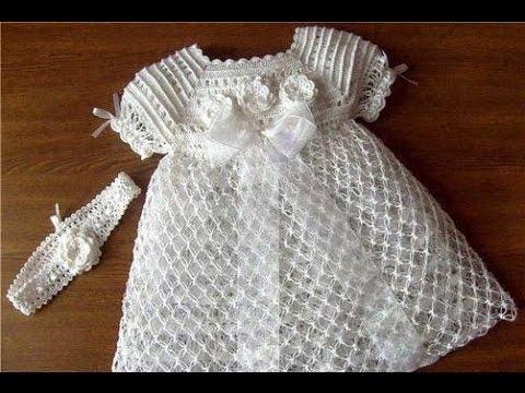 Como Hacer Vestido De Niña A Crochet смотреть видео