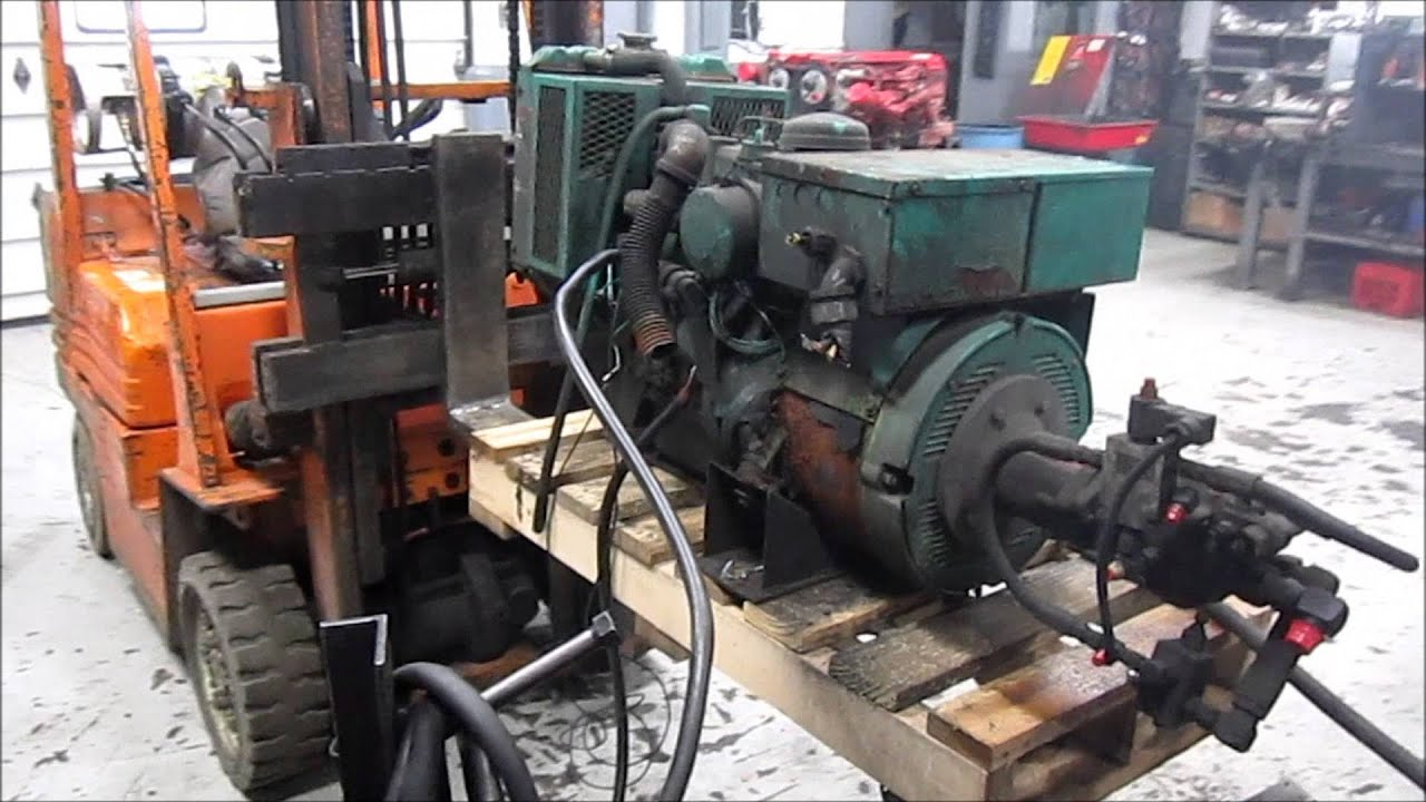an 7 5DKDFJ Generator Engine Running