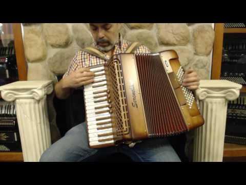 SERE34372SW - Shaded Wood Serenellini 343 Piano Accordion LMM 34 72 $3999