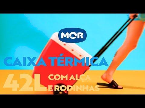 Caixa Térmica 42L com Alça e Rodinhas | Mor
