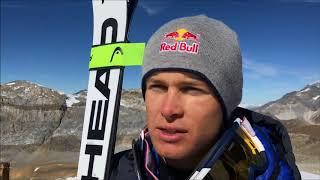Les skieurs français en stage à Tignes
