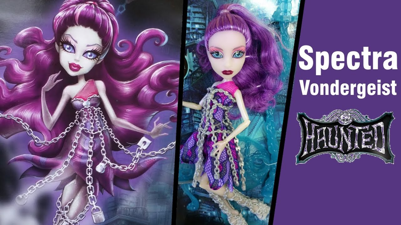Uncategorized Spectra From Monster High haunted spectra vondergeist monster high unboxing review youtube