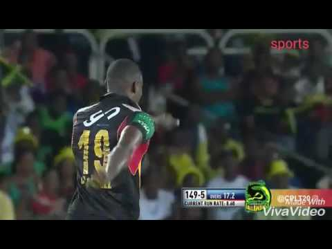 CPL Funny Moment Match 12 jamica tallawahs vs St kitts 2016
